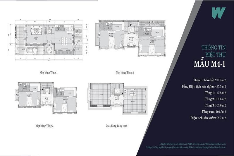Thiết kế mẫu 3 biệt thự Will State khu B Dương Nội - Tập đoàn Nam Cường