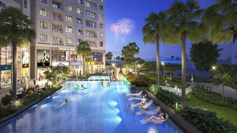 Tiện ích bể bơi dự án The Sapphire Mansions Hạ Long - Doji