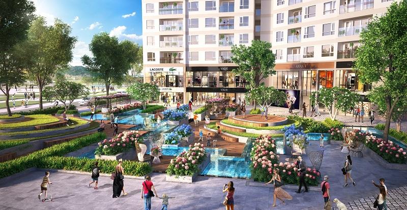 Tiện ích quảng trường dự án The Sapphire Mansions Hạ Long - Doji