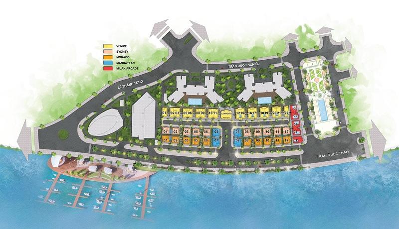 Tổng mặt bằng dự án The Sapphire Mansions Hạ Long - Doji
