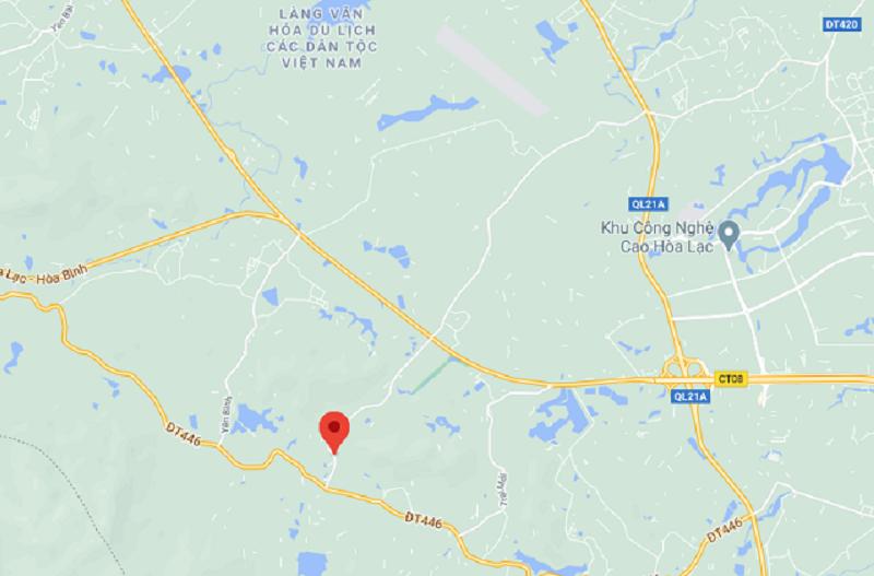 Vị trí khu phân lô đất nền Bãi Dài - Hòa Lạc