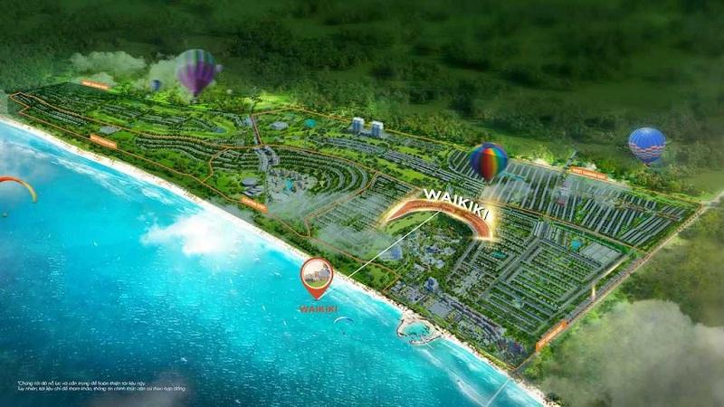 Vị trí phân khu biệt thự Waikiki Novaworld Phan Thiết