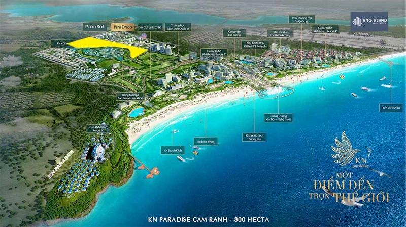 Vị trí phân khu ParaSol trong dự án KN Paradise Cam Ranh Khánh Hòa