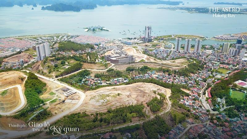 View Vịnh Hạ Long và Vịnh Cửa Lục 2 từ dự án The Astro Hạ Long Bay - Bãi Cháy