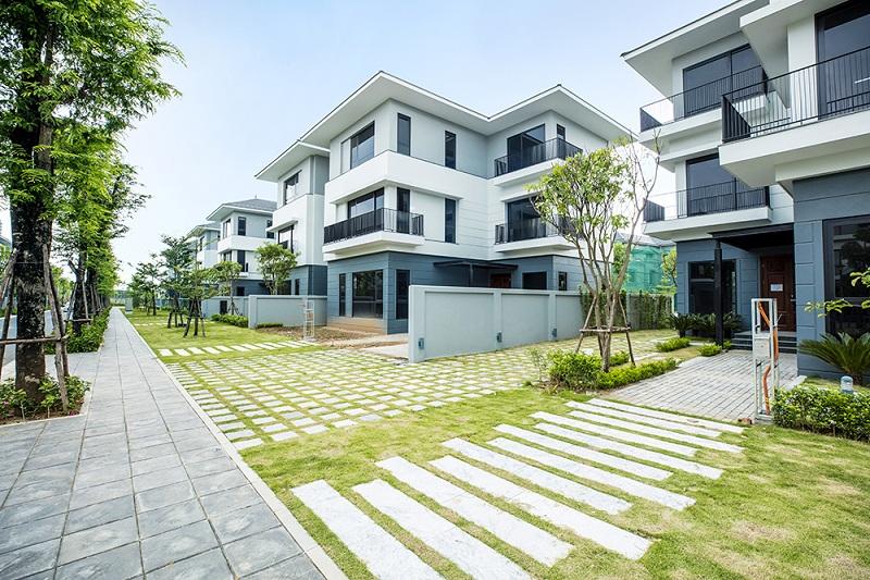 Ảnh thực tế 2 khu biệt thự ven hồ BT5 Luxury Villa Lakeside