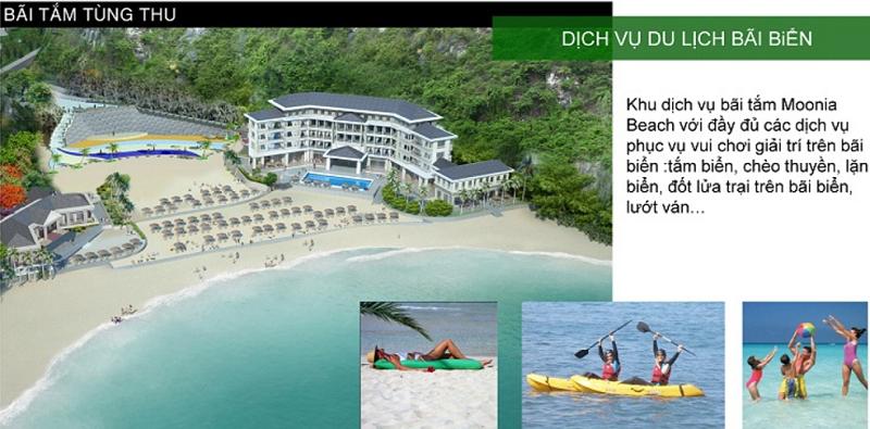 Bãi tắm Tùng Thu dự án Cát Bà Amatina Vinaconex ITC Hải Phòng