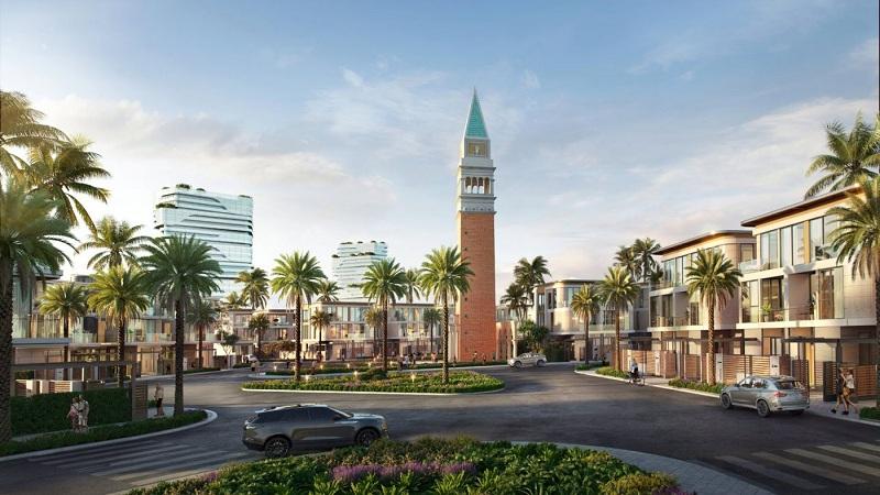 Biểu tượng tháp dự án Venezia Beach Hồ Tràm - Bình Châu