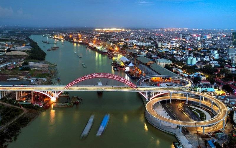 Cầu Hoàng Văn Thụ nối dự án Hoàng Huy New City Thủy Nguyên với trung tâm TP Hải Phòng