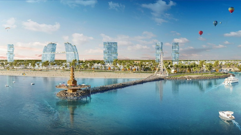 Cầu tàu hải đăng dự án Venezia Beach Hồ Tràm - Bình Châu