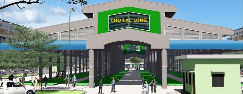 Chợ trung tâm Khu đô thị Lạc Long - Kinh Môn - Hải Dương