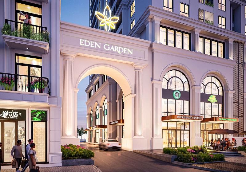 Cổng dự án BID Homes Eden Garden Lê Lợi - Thái Bình