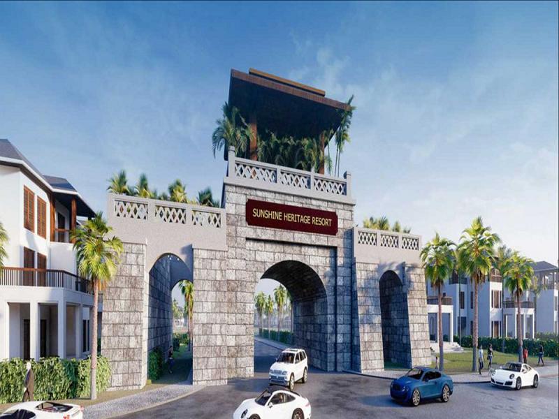 Cổng dự án Sunshine Heritage Mũi Né - Phan Thiết