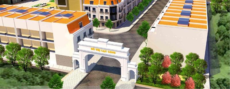 Cổng vào Khu đô thị Lạc Long - Kinh Môn - Hải Dương