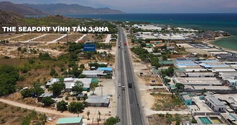 Flycam thực tế 2 dự án đất nền Seaport Vĩnh Tân - Bình Thuận