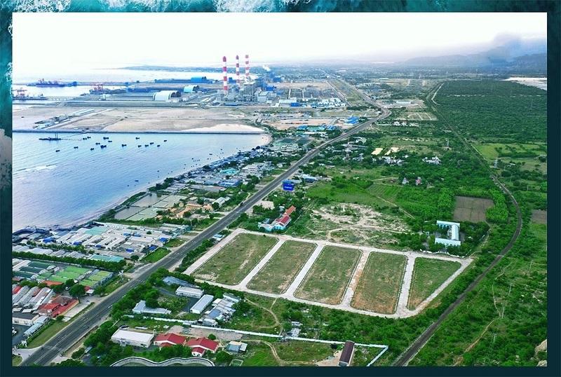 Flycam thực tế 1 dự án đất nền Seaport Vĩnh Tân - Bình Thuận