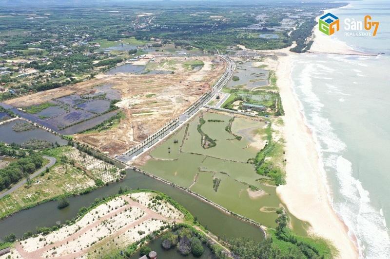 Flycam thực tế dự án Venezia Beach Hồ Tràm - Bình Châu
