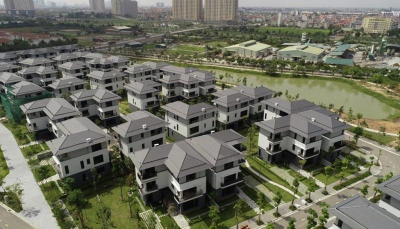 Flycam tiến độ khu biệt thự ven hồ BT5 Luxury Villa Lakeside