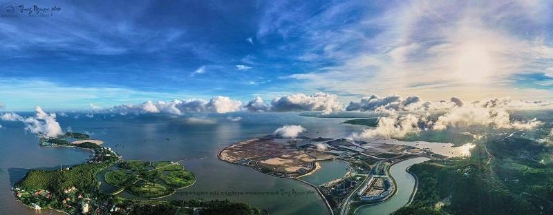 Flycam tiến độ dự án Dragon Ocean Đồ Sơn - Hải Phòng - Geleximco