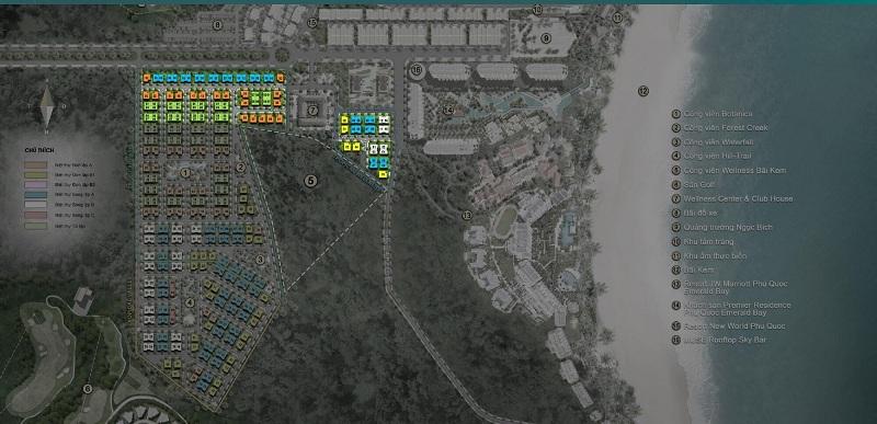 Giai đoạn 1 dự án Sun Tropical Villages Bãi Kem - Wellness Second Homes Phú Quốc