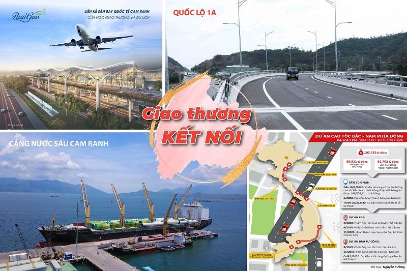 Hạ tầng giao thông đất nền Cam Lâm Sky Lake ven Đầm Thủy Triều