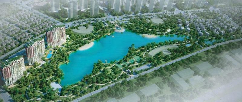 Hồ trung tâm khu biệt thự ven hồ BT5 Luxury Villa Lakeside