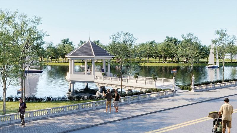 Hồ trung tâm dự án V Melody Villas Hòa Lạc - Thạch Thất