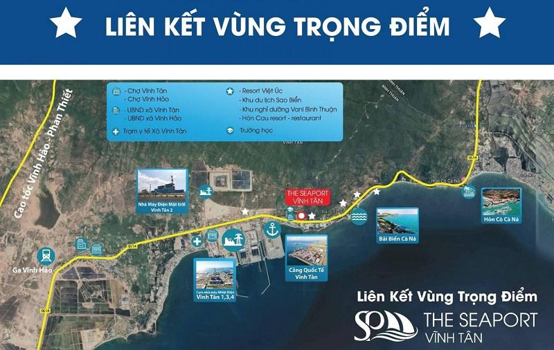 Kết nối dự án đất nền Seaport Vĩnh Tân - Bình Thuận