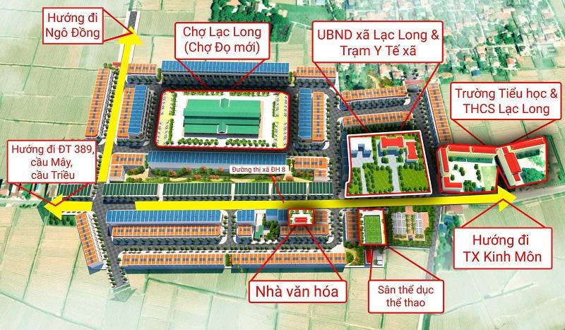 Kết nối Khu đô thị Lạc Long - Kinh Môn - Hải Dương