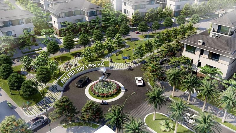 Không gian xanh khu biệt thự ven hồ BT5 Luxury Villa Lakeside