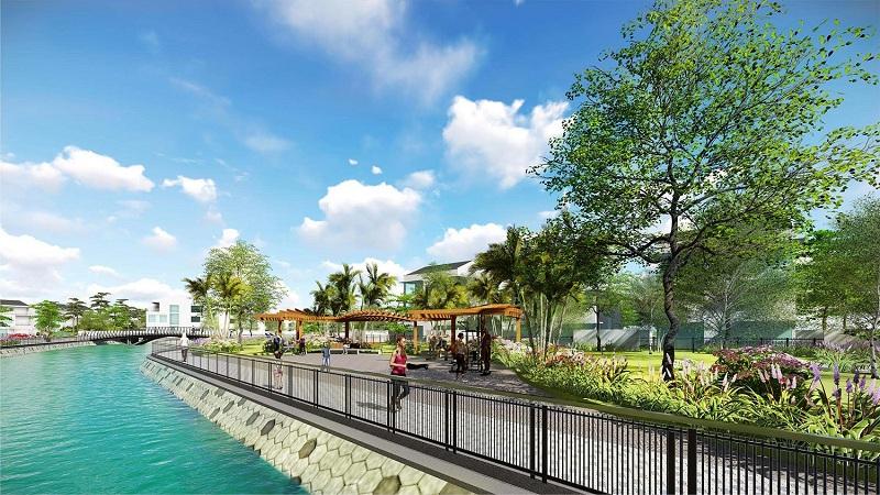 Không gian xanh dự án Hoàng Huy New City Thủy Nguyên - Hải Phòng