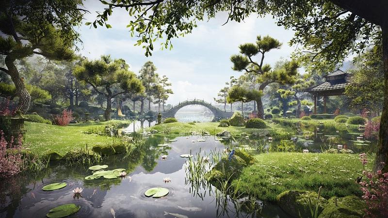 Không gian xanh chung cư The Landmark Onsen Ecopark