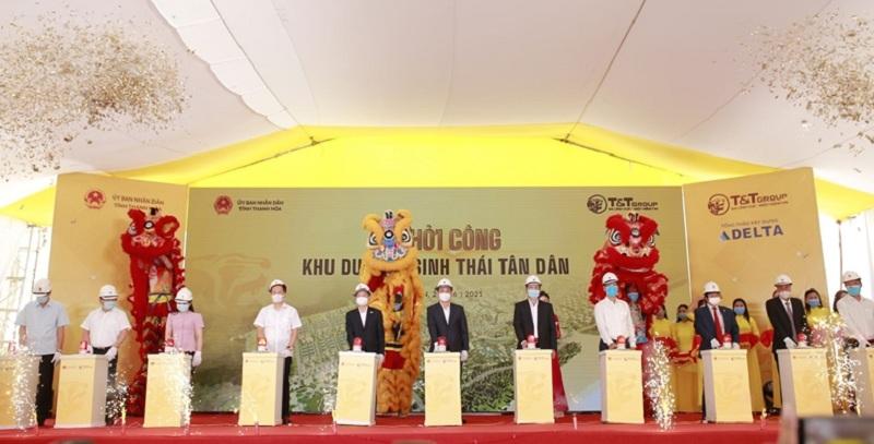 Lễ khởi công 4 khu du lịch sinh thái Tân Dân - Nghi Sơn - Thanh Hóa của tập đoàn T&T Group