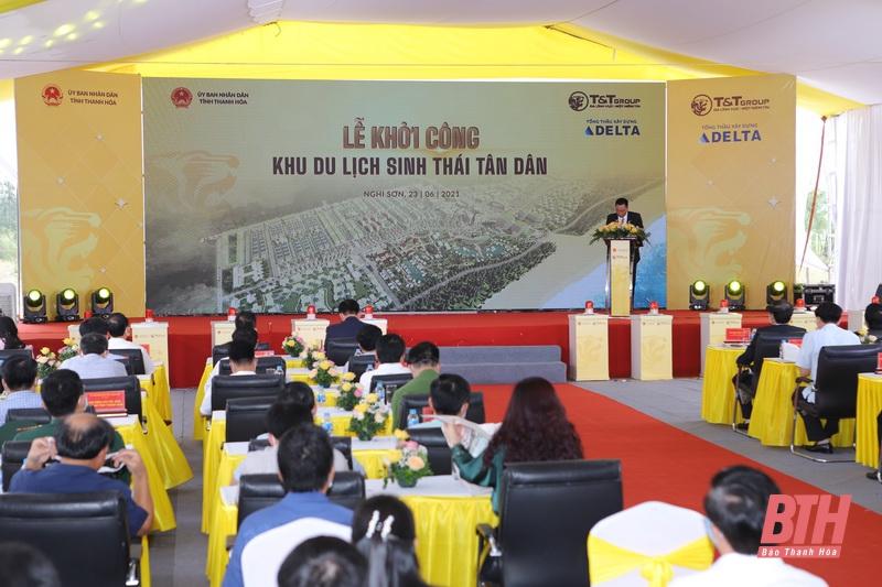 Lễ khởi công khu du lịch sinh thái Tân Dân - Nghi Sơn - Thanh Hóa của tập đoàn T&T Group