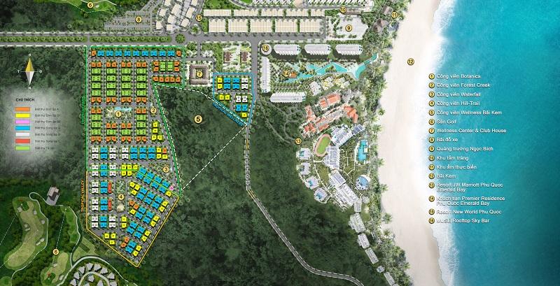 Mặt bằng biệt thự dự án Sun Tropical Villages Bãi Kem - Wellness Second Homes Phú Quốc