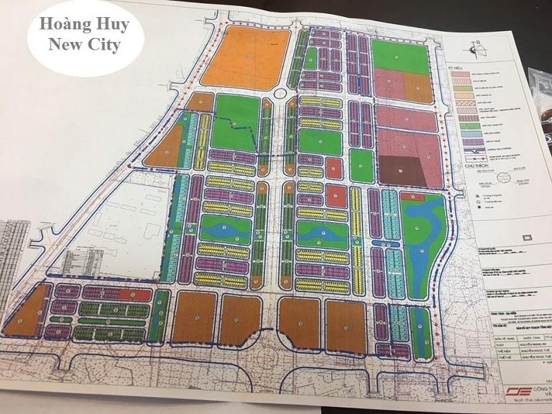 Mặt bằng phân lô dự án Hoàng Huy New City Thủy Nguyên - Hải Phòng