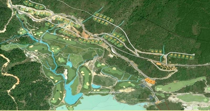 Mặt bằng dự án Novaworld Đà Lạt - Lâm Đồng