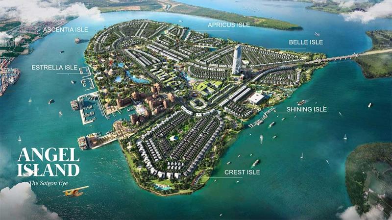 Mặt bằng phân khu dự án Angel Island Nhơn Trạch - Đồng Nai - The Saigon Eyes