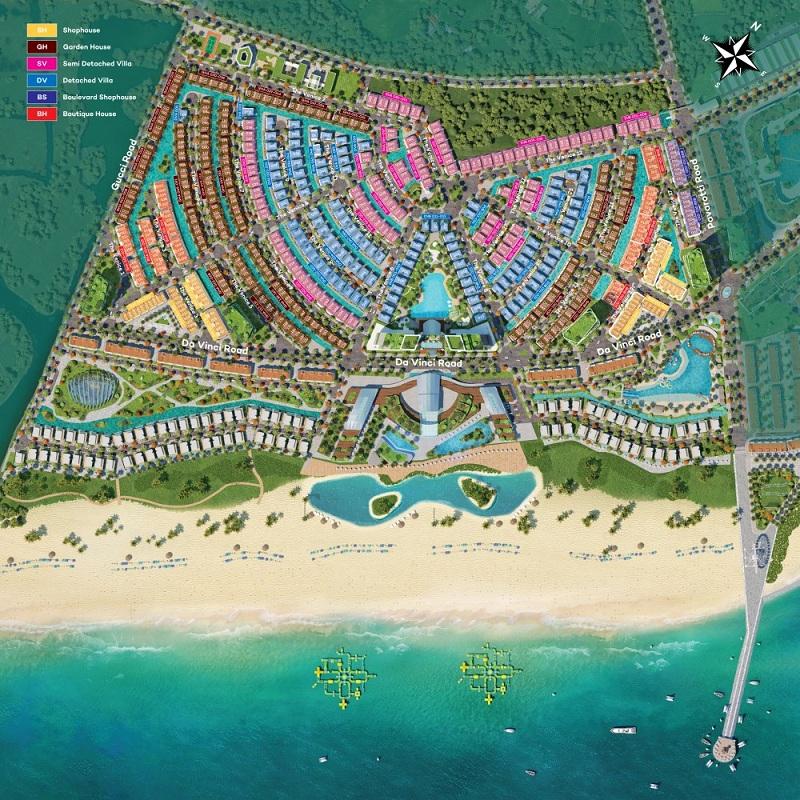 Mặt bằng phân khu dự án Venezia Beach Hồ Tràm - Bình Châu