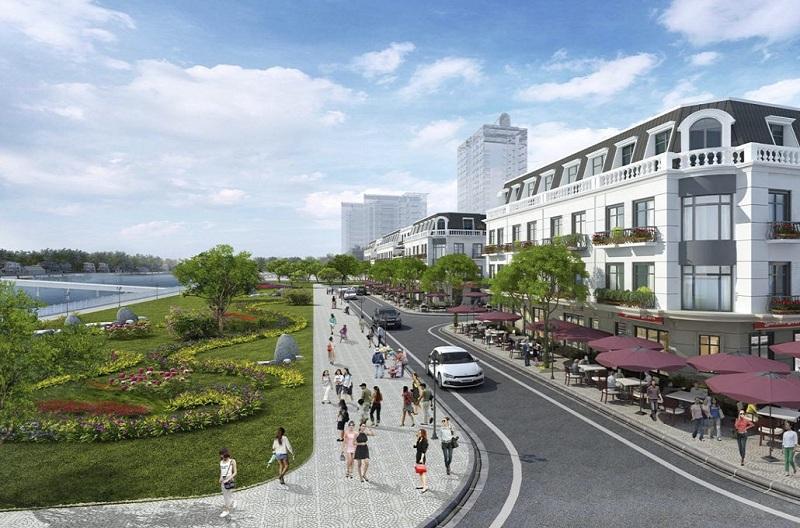 Nội khu dự án Hoàng Huy New City Thủy Nguyên - Hải Phòng