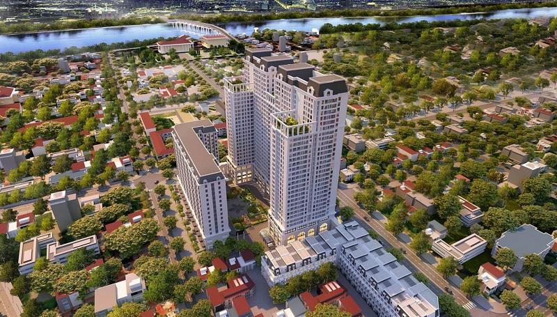 Phối cảnh 1 dự án BID Homes Eden Garden Lê Lợi - Thái Bình