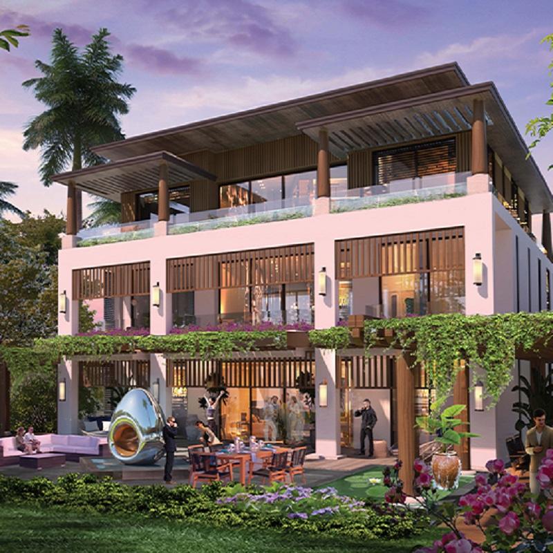 Phối cảnh 2 biệt thự Sunshine Heritage Mũi Né - Phan Thiết