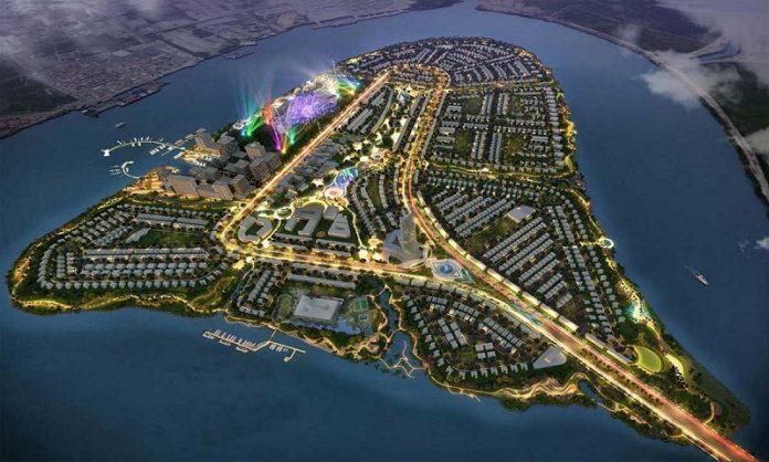 Phối cảnh dự án Angel Island Nhơn Trạch - Đồng Nai - The Saigon Eyes về đêm