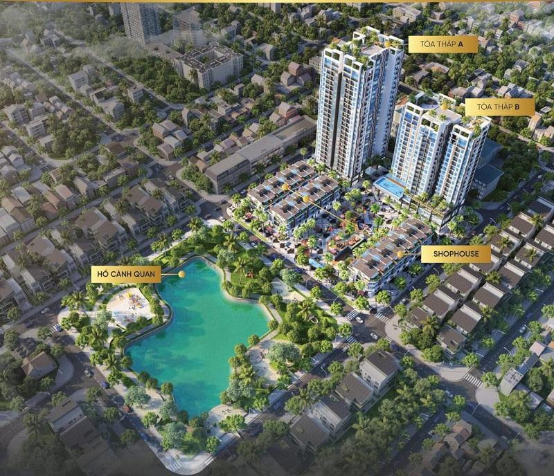Phối cảnh dự án Bách Việt Diamond Hill Xương Giang - Bắc Giang