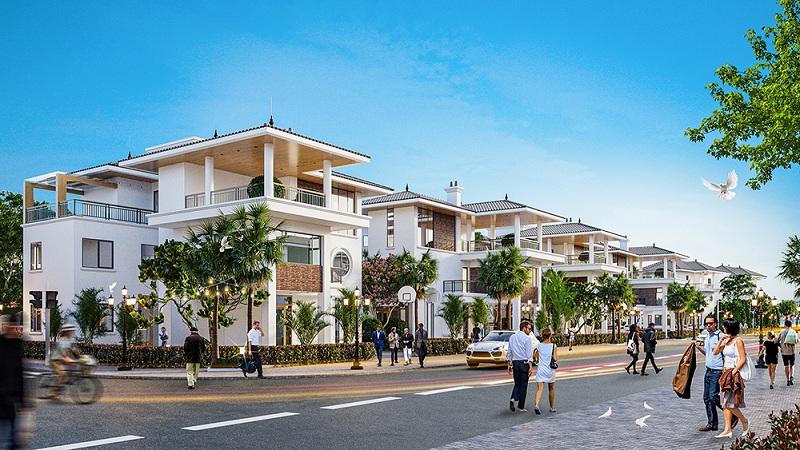 Phối cảnh biệt thự đơn lập dự án V Melody Villas Hòa Lạc - Thạch Thất