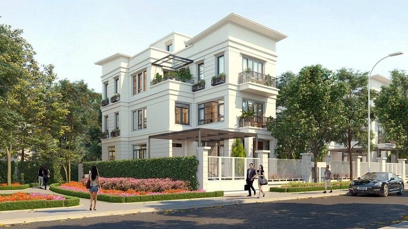 Phối cảnh biệt thự dự án Mỹ Hào Garden City Phố Nối - Hưng Yên