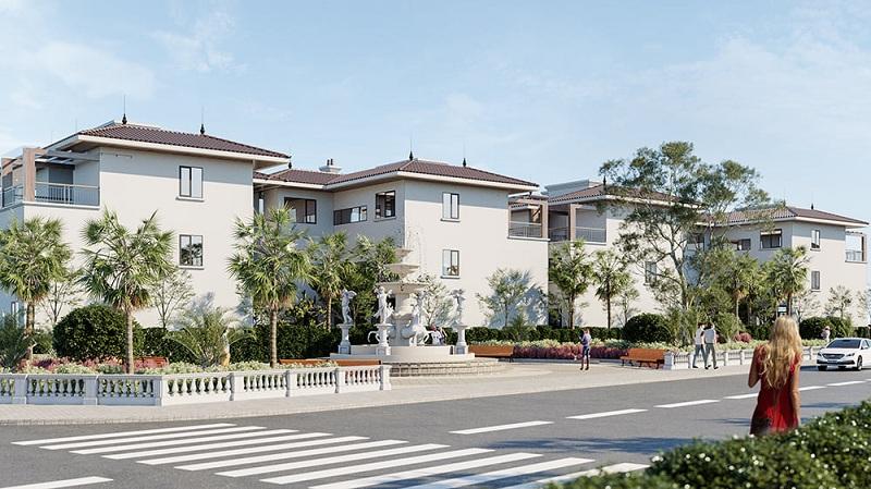 Phối cảnh biệt thự song lập dự án V Melody Villas Hòa Lạc - Thạch Thất