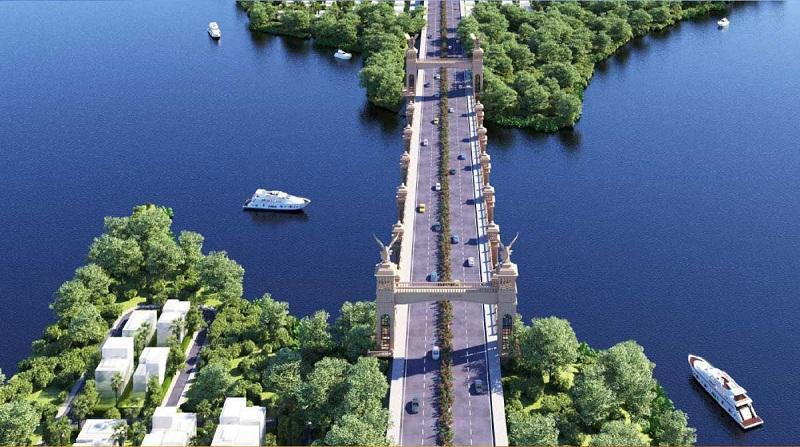 Phối cảnh cầu nối dự án Angel Island Nhơn Trạch - Đồng Nai - The Saigon Eyes