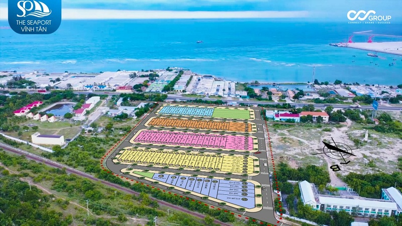 Phối cảnh dự án đất nền Seaport Vĩnh Tân - Bình Thuận