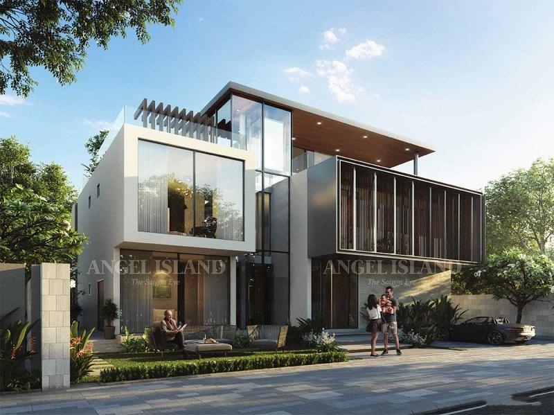 Phối cảnh Elite Villa dự án Angel Island Nhơn Trạch - Đồng Nai - The Saigon Eyes