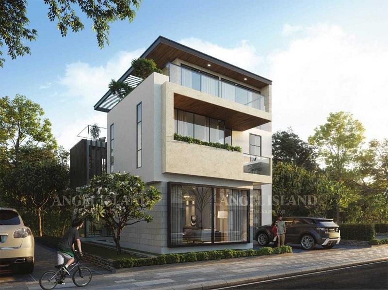 Phối cảnh Garden Villa dự án Angel Island Nhơn Trạch - Đồng Nai - The Saigon Eyes